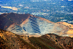 Rock Quarry. At Mt. Zion, California as seen from Mt. Diablo Royalty Free Stock Photography