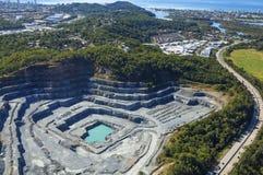 Rock quarry Stock Image