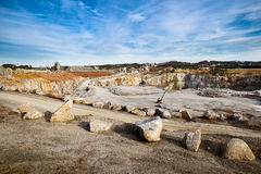 Rock quarry scene Stock Photos