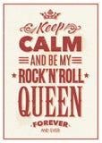 Rock Queen Typography Stock Photography