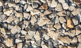rock Railway Tracks , stone background Royalty Free Stock Images