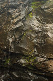 Rock with rain water. Natural landscape stock photography
