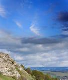 Rock and range mountains Stock Photo