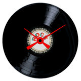Rock Record Clock Face Stock Image
