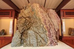 Rock from Red River of Guangxi Province Stock Image