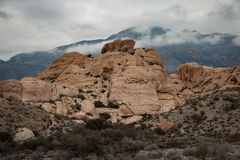 Rock in the Red Rock Canyon National Conservation Area, USA Royalty Free Stock Photo