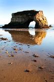 Rock Reflection at Twin Bridges, Santa Cruz, CA Royalty Free Stock Images