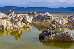 Rock Reflections in Lake Royalty Free Stock Photography