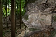 Rock Reliefs near Kopicuv statek Royalty Free Stock Images
