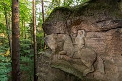 Rock Reliefs near Kopicuv statek Royalty Free Stock Photos