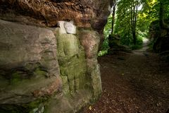 Rock Reliefs near Kopicuv statek Stock Photography