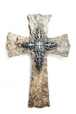 Rock religious cross Stock Photos