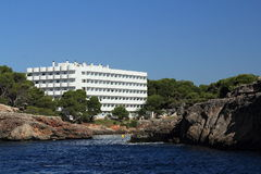 Rock, Residences, Cruise Ship from Es Forti, Cala d´Or, Cala Gran, Cala Esmeralda, Cala Ferrera to Porto Colom, Majorca Stock Photography