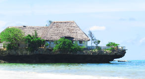 The Rock. Is a restaurant located in Zanzibar Island in Tanzania, South of Africa Stock Photography