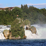 Rock on Rhine Falls Stock Images