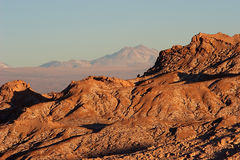 Rock ridge in Atacama Desert, Chile Stock Images