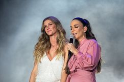 Rock in RIO 2017 - Ivete Sangalo e Gisele Bundchen Royalty Free Stock Photos