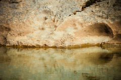 Rock and river Stock Images