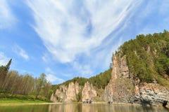 Rock River Chusovaia, Russia, the Urals Stock Image