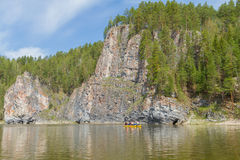 Rock River Chusovaia, Russia, the Urals Royalty Free Stock Photography