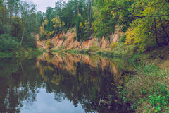 Rock and river. Royalty Free Stock Photos