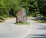 Rock on road Royalty Free Stock Photography