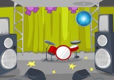 Rock&Roll阶段动画片 库存图片
