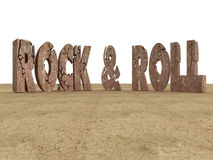 Rock & Roll. 3d generated illustration of inscription Royalty Free Stock Photography