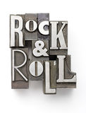 Rock & Roll. The phrase Rock & Roll photographed using a mix of vintage letterpress characters Royalty Free Stock Photo