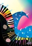 Rock-and-roll abstracto del océano de la música stock de ilustración