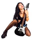 Rock and roll  chick Royalty Free Stock Photography