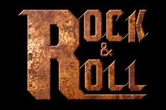 Rock and roll concept isolated on black background Stock Photography
