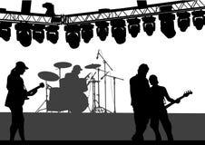 Rock-and-roll de guitarras ilustración del vector