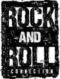 Rock-and-roll de la tipografía del vector Fotos de archivo