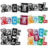 Rock-and-roll de las letras Fotos de archivo libres de regalías