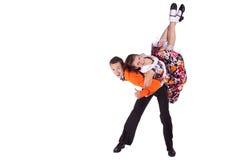 Rock-and-roll de los bailarines Fotos de archivo