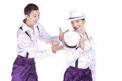 Rock-and-roll de los bailarines Imagen de archivo libre de regalías