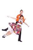 Rock-and-roll de los bailarines Imágenes de archivo libres de regalías