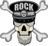 Rock-and-roll del cráneo Fotografía de archivo