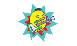 Rock-and-roll del pájaro Fotografía de archivo