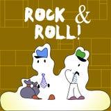 Rock-and-roll del testo della scrittura Concetto che significa il tipo musicale del genere di suono pesante del battito di musica royalty illustrazione gratis