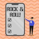 Rock-and-roll del testo di scrittura di parola Concetto di affari per il tipo musicale del genere di suono pesante del battito di royalty illustrazione gratis