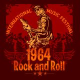 Rock and Roll Design - vector poster Stock Photo