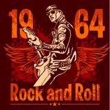 Rock and Roll Design - vector poster. 1960s Royalty Free Illustration