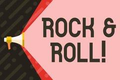 Rock-and-roll di scrittura del testo della scrittura Concetto che significa il tipo musicale del genere di suono pesante del batt illustrazione vettoriale