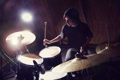 Rock and roll drummer Stock Photography