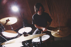 Rock and roll drummer Royalty Free Stock Images