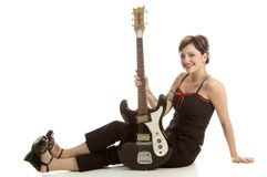 Rock-and-roll e donne Fotografie Stock