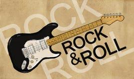 Rock & Roll Electric Guitar. Digital Drawing Stock Photo