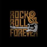Rock-and-Roll für immer lizenzfreie abbildung